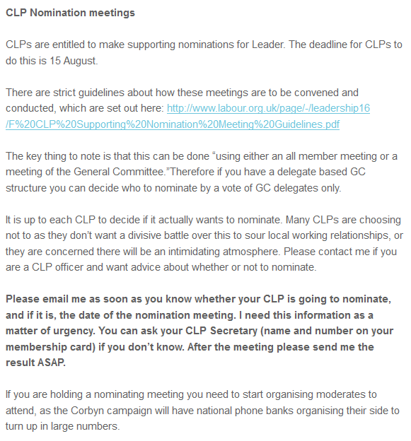 clp nomination meetings